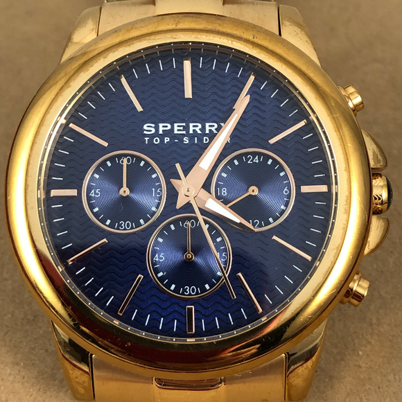 Sperry Accessories - Sperry  Rose Gold Navy Halyard Chronograph Watch